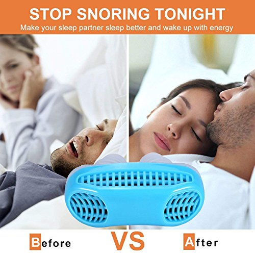 Snoring Solution, Anti Snoring Devices Snore Stopper, Stop Snoring, Best Airing Air Purifier Nose Vents Nasal Dilator, to Give You a Good Night's Sleep (blue) by SIYU (Image #3)