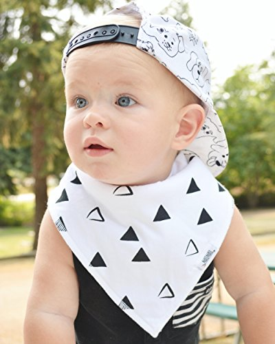 Baby Bandana Drool Bibs with Snaps, 8-Pack Organic Absorbent Drooling & Teething Bib Set by Matimati (Monochrome) by Matimati Baby (Image #6)