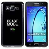 Beast Mode Exercise Rogan Black Text Designed Hard Plastic Protective Case King Case For Samsung Galaxy On5 SM-G550FY G550