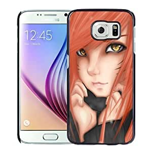 New Personalized Custom Designed For Samsung Galaxy S6 Phone Case For Cartoon Cat Girl Red Hair Phone Case Cover