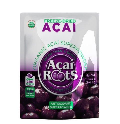 Acai Acai Roots organique pur en poudre, 4 onces de poche