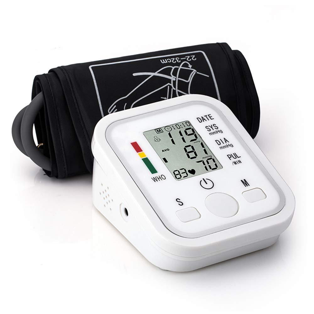 DLDL Monitor de presión Arterial Brazo automático Detector de latidos cardíacos Indicador de hipertensión Inicio Transmisión de Voz 99 Memoria Tienda ...