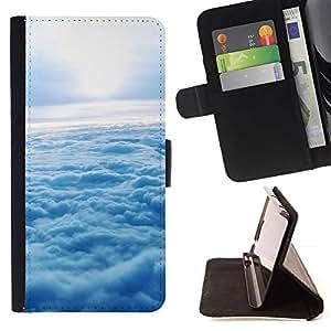 Momo Phone Case / Flip Funda de Cuero Case Cover - Naturaleza Nube Sol - Apple Iphone 5C