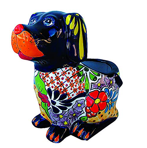 Ceramic Talavera Planter (Talavera Dog Planter (Multi))