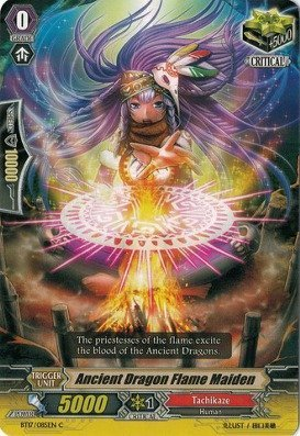 Cardfight!! Vanguard TCG - Ancient Dragon Flame Maiden (BT17/085EN) - Booster Set 17: Blazing Perdition ver.E by Cardfight!! Vanguard TCG