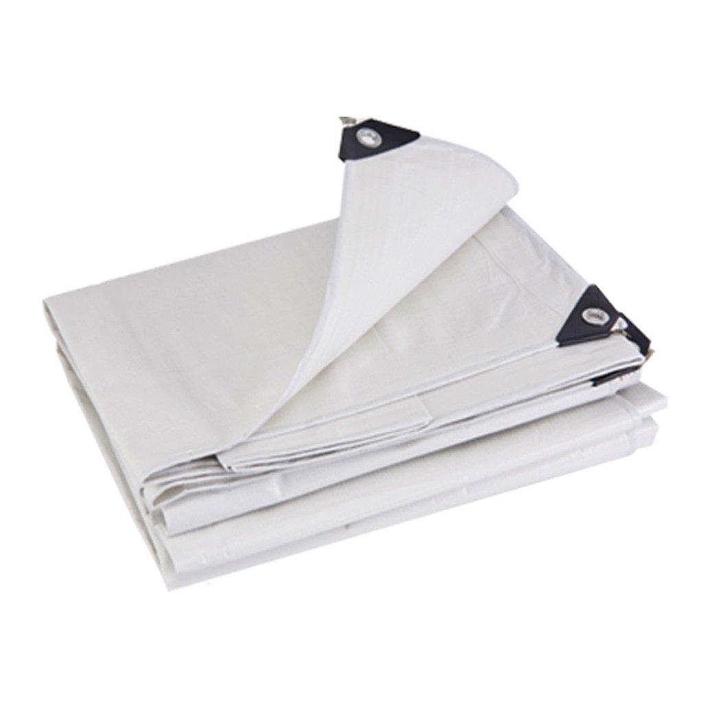 Zelt Zubehör Plane Tarpaulin Wasserdichte Heavy Duty Plane Blatt Tarp Blatt - Premium-Qualität aus 180 G/Quadratmeter Plane Weiß Gemacht Idee für Camping Wandern