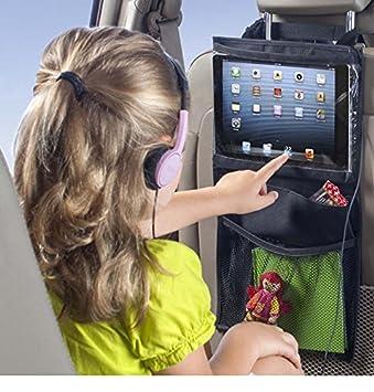 backseat headrest organizer car storage organizer convenient ipad tabletdvd player holder for