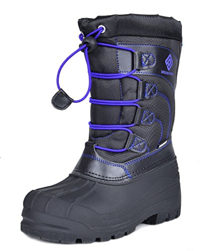DREAM PAIRS Toddler Knorth Black Grey Royal Isulated Fur Winter Waterproof Snow Boots Size 10 M US Toddler