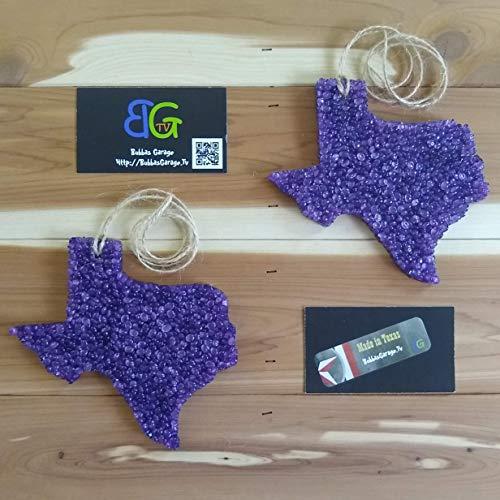 - Leather scented Large Purple Texas Automotive Car Freshener - 2 Pack