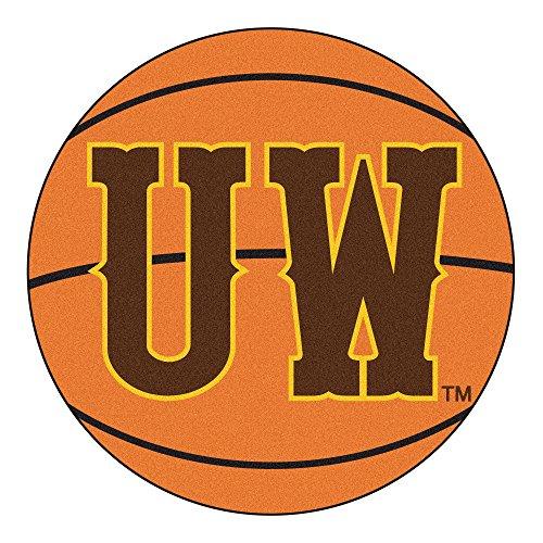 FANMATS NCAA University of Wyoming Cowboys Nylon Face Basketball Rug