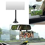 Square Baby Car Mirror, Ampper 360¡ã Rotate Adjustabe Suction Cup/Long Arm Rear Facing Mirror, Shatterproof Superior Viewing Area - See Your Baby While Driving