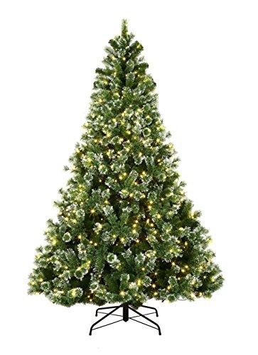 ABUSA Pre Lit Christmas Trees 7.5 Feet Pine Needle Tree with 750 LED Lights 1352 Branch Tips (Sale Tree 7.5 Christmas)
