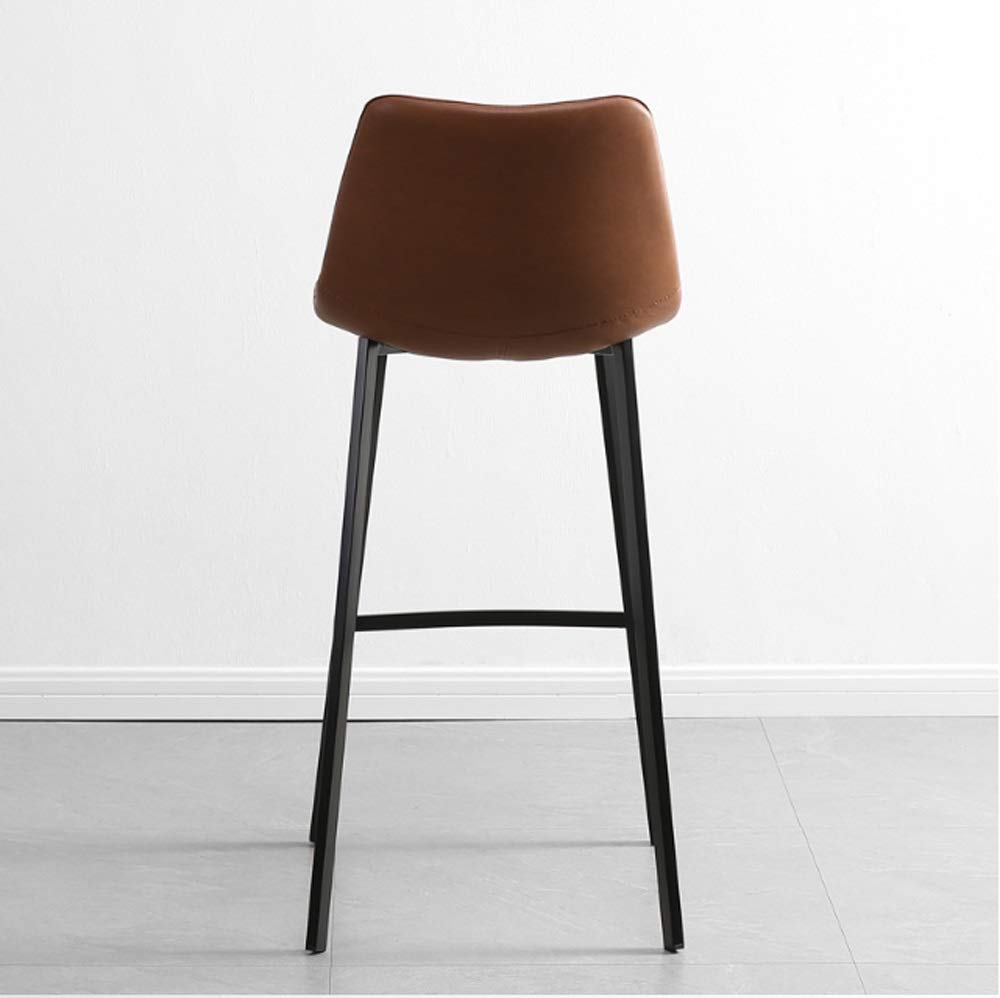 AO-stools Nordic Leisure High Stool Cafe Back Metal Bar Chair Home Restaurant Dining Chair 99x75x43cm by AO (Image #5)
