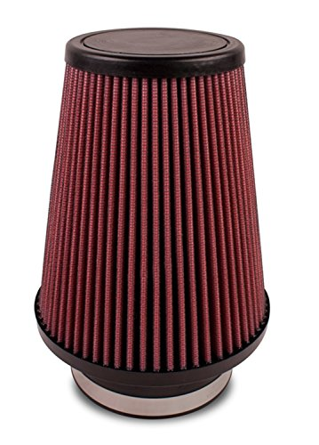 Airaid 700-411 Universal Clamp-On Air Filter: Round Tapered; 4 in (102 mm) Flange ID; 7 in (178 mm) Height; 4.625 in (117 mm) Base; 3.5 in (89 mm) Top
