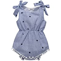 BOBORA Baby Girl Rompers Star Print Blue Jumpsuit One-Pieces Outfits