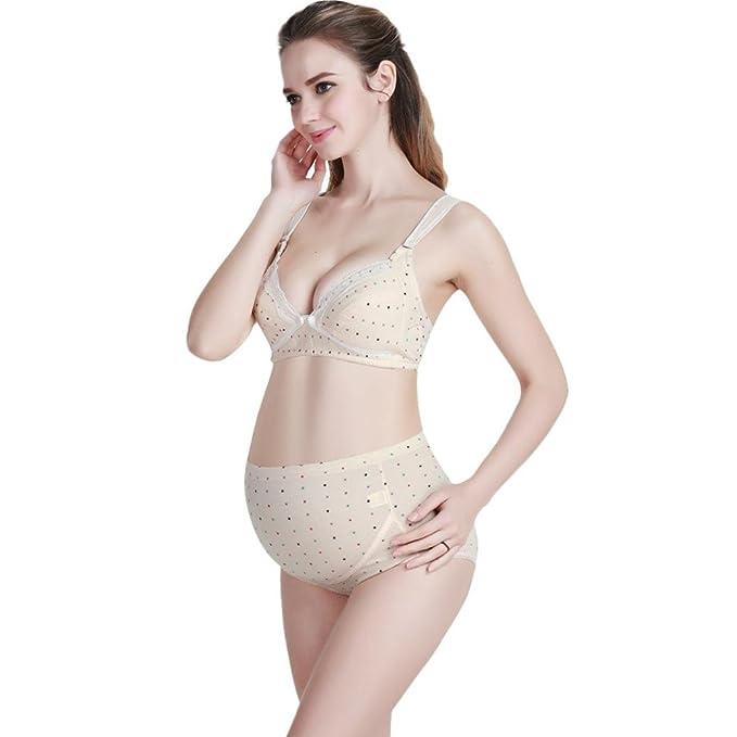Sujetador de Embarazo y Lactancia Premamá Cómodo Con Aros Para Mujer QinMM Bra: Amazon.es: Ropa y accesorios