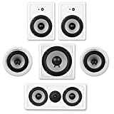 Acoustic Audio CST825 Complete 5.1 Home Theater Speaker Set with Center Channel and Subwoofer 1750 Watts