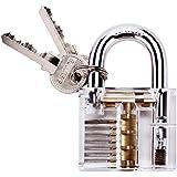 G2PLUS Transparents Schloss Schlössern Vorhängeschlösser Übungsschloss mit 2 Stabilen Schlüsseln für Schlosser Anfänger