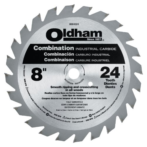Oldham 8004524 8-Inch 24T Carbide Saw Blade Combination