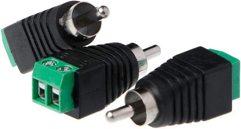 3pcs Conector de Cabeza de Video AV Cabeza de Loto Macho RCA GROOMY