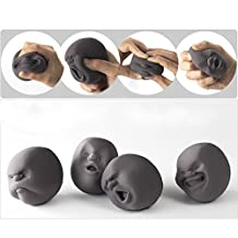 EQLEF® 1Pcs Funny Novelty Gift Japanese Gadgets Vent Human Face Ball Anti Stress Scented Caomaru Toy Geek Gadget Vent Toy
