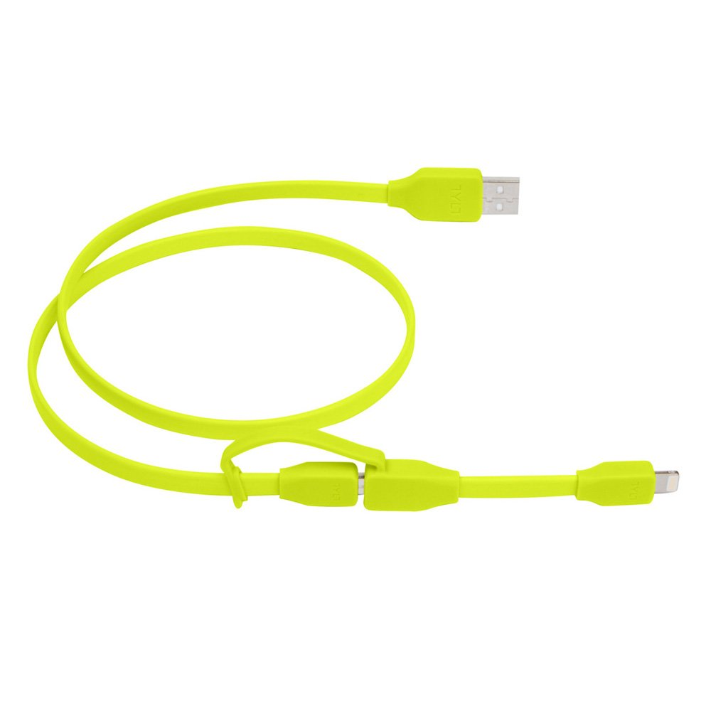 Tylt Syncable-Duo 1' Charge and Sync Cable with Lightning & Micro USB Connector for iPod/iPhone/iPad, Green by Technocel (Image #3)