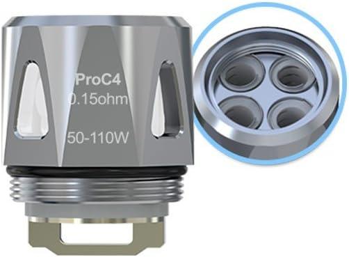 Original Joyetech Pro C4 DL bobina 0.15 ohm (paquete de 5) para ProCore Aries atomizador Primo Mini Primo 2.0, Este producto no contiene nicotina ni tabaco
