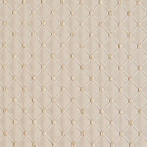 (B650 Beige Diamond Jacquard Woven Upholstery Fabric by The Yard)