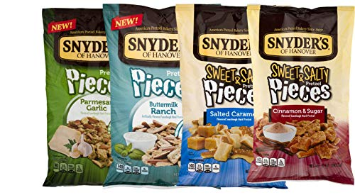 Snyder's of Hanover Flavored Pretzel Pieces Limited Edition Flavors- 10 oz. Bags Variety 4 Pack