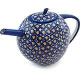 55 oz teapot - Polish Pottery Tea or Coffee Pot 55 oz UNIKAT
