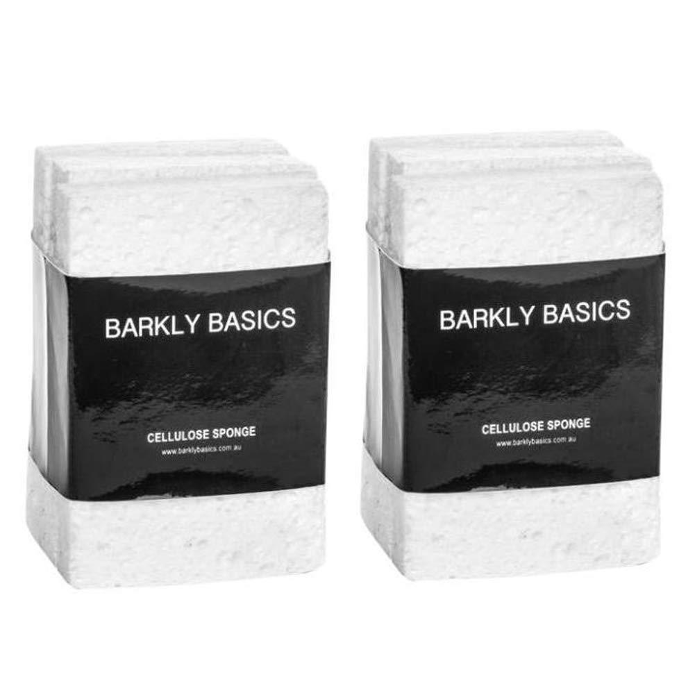 100% Biodegradable Natural Cellulose Sponges, Set of 6 (Two 3-Packs), White by Barkly Basics (Image #1)