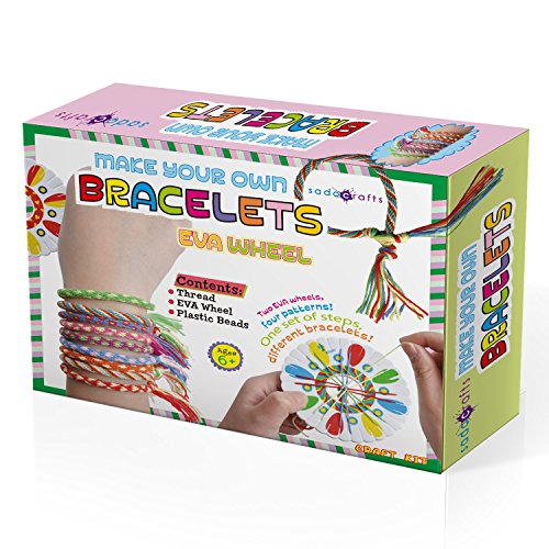 SadoCrafts Make Your Own Bracelets with EVA Wheel - Fun, Interactive, Educational DIY Jewelry Kit for Kids Diy Sentimental Christmas Gifts