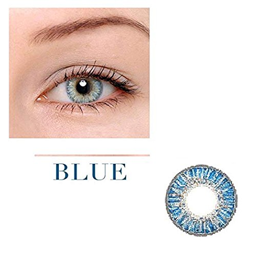Women Multi-Color Cute Charm and Attractive Fashion Contact Lenses Cosmetic Makeup Eye Shadow Blue 3 by Dream - Contacts Blue For Eyes