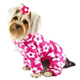 Full Blossom Fleece Turtleneck Dog Pajamas / Bodysuit Size: Medium Review