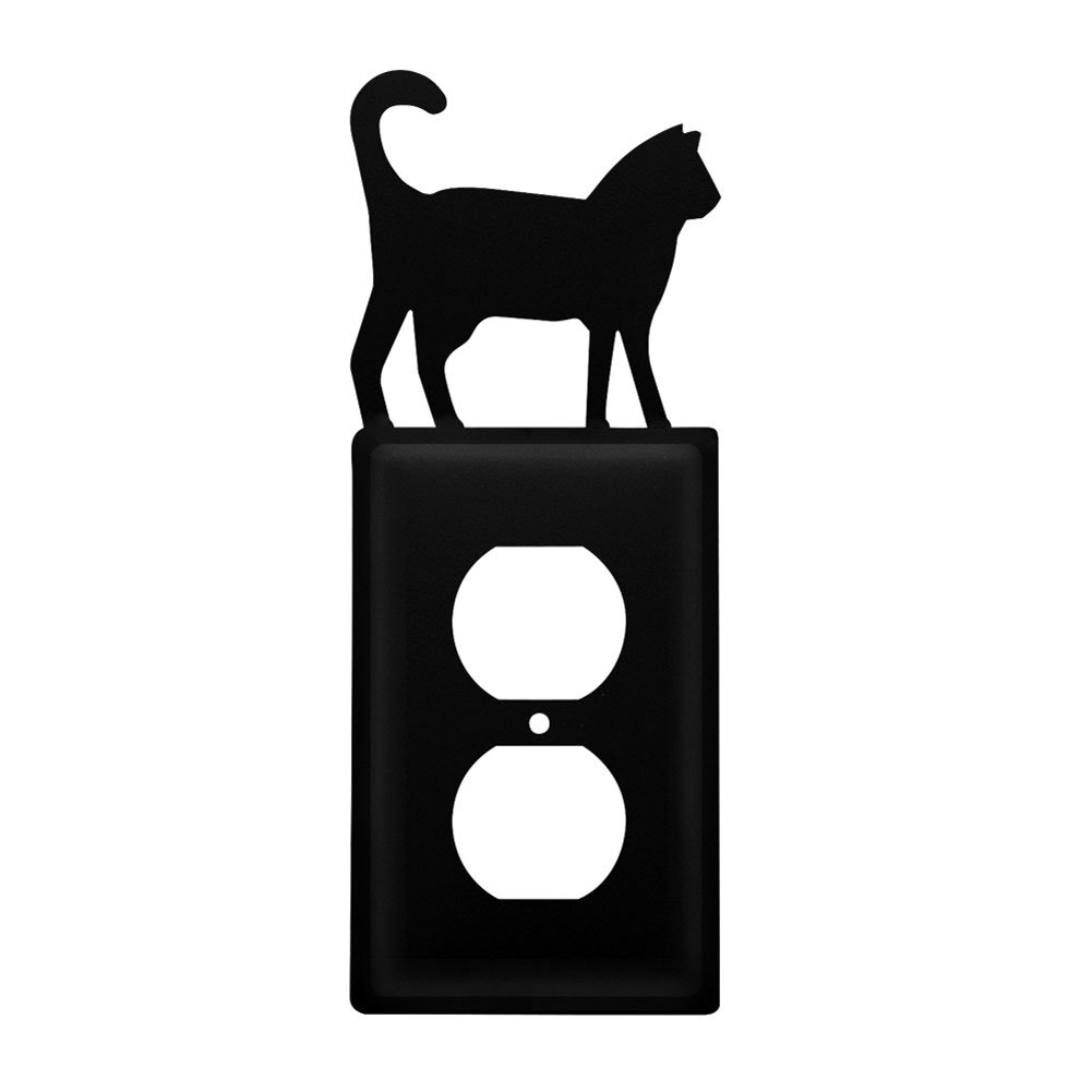Iron Cat Outlet Cover - Heavy Duty Metal Light Switch Cover, Electrical Outlet Covers, Lightswitch Covers, Wall Plate Cover