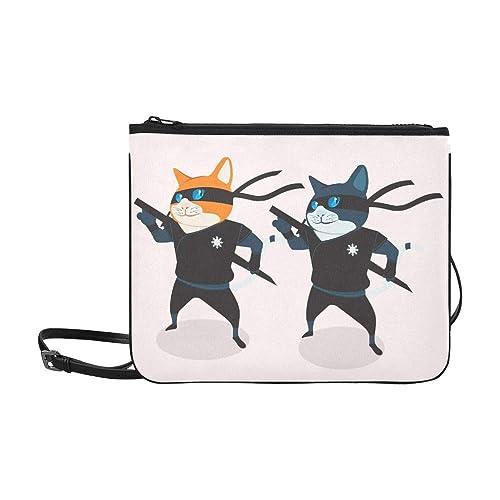SHAOKAO Black Cool Ninja Cat Pattern Custom Nylon de alto ...