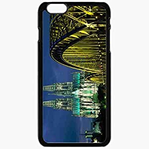 Unique Design Fashion Protective Back Cover For iPhone 6 Plus Case Slim (5.5 inch) Germany Bridge Cathedral Black