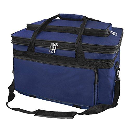 Large Capacity Art SuppliesStorage Bag Waterproof OxfordArt Carrying Bag FoldableSketching Craft Tool Organizer Box Adjustable Shoulder Bag for Palette,Brushes, Markers,Pencil, Paints & Sketchbook by JIAHG