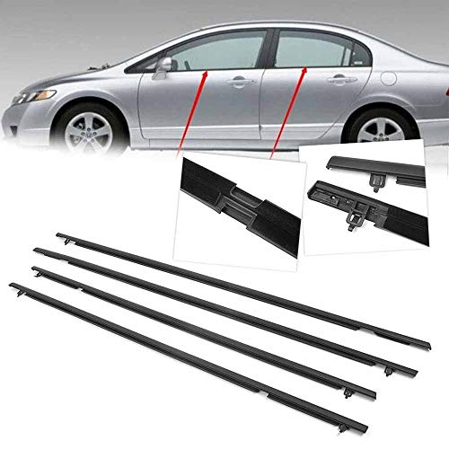 Hotwin Car Outside Door Glass Window Weatherstrip Trim Seal Belt For Honda Civic 2006-2011