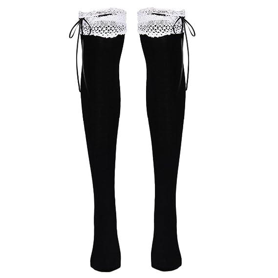 DOGZI Mujer tubo largo sobre calcetines hasta la rodilla Bota Otoño invierno Calentar Muslo Calcetines Medias Terciopelo Anti-dobladillo Calcetines altos ...