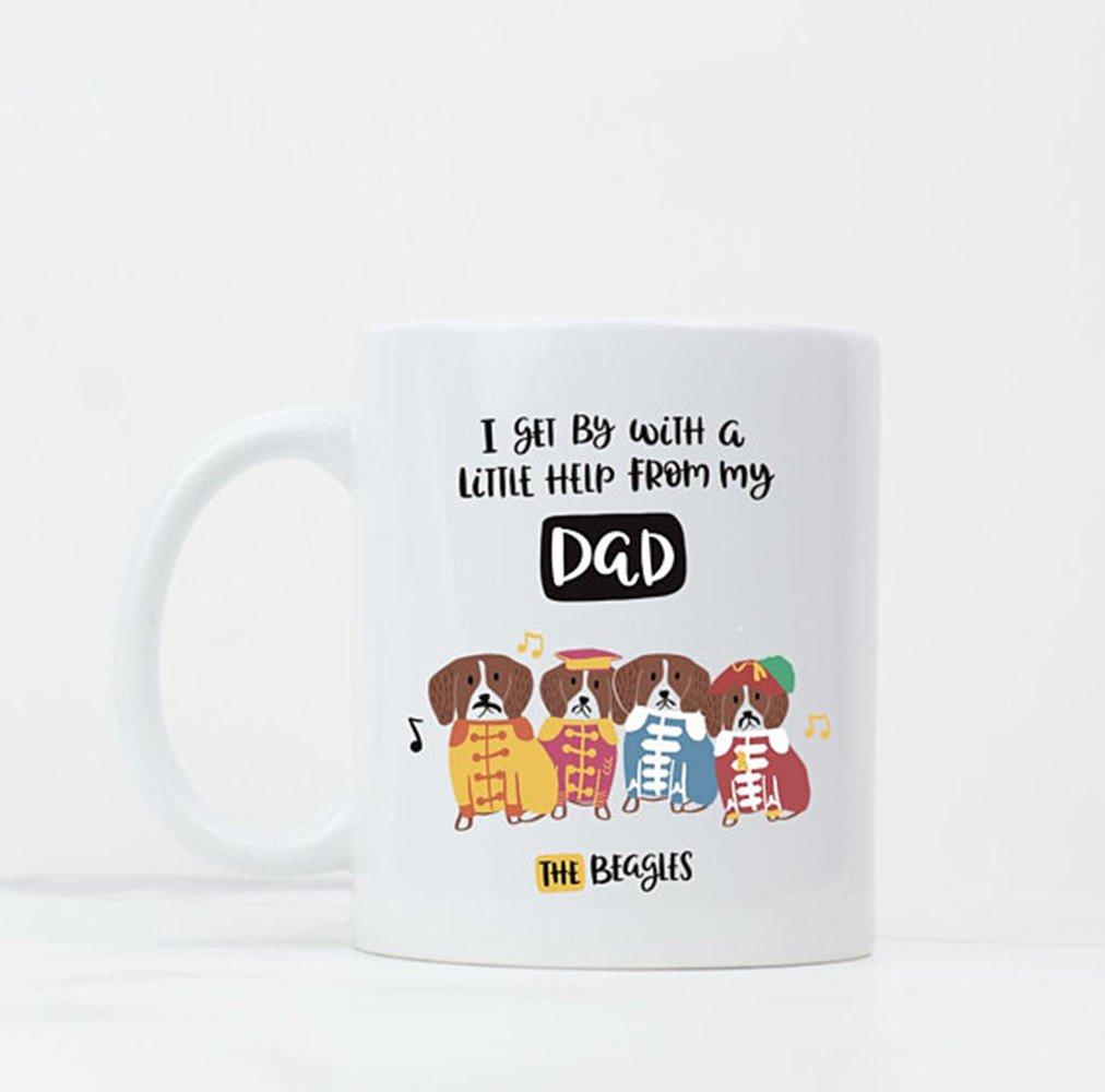 父の日ギフト – The Beatles Mug – Dadマグ – 父の日プレゼントお父さん – 11オンスマグ – のギフト – セラミックコーヒーマグティーカップホワイト   B07CJMKXZS