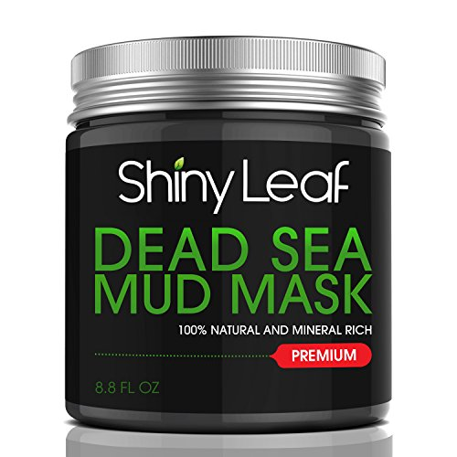 Dead Sea Mud Mask   100  Pure  Natural  Premium   Face   Body Rejuvenation  Pore Cleansing  For Young  Smooth  Elastic Skin  Removes Toxins And Wrinkles  Fights Acne Breakouts  By Shiny Leaf  8 8 Oz