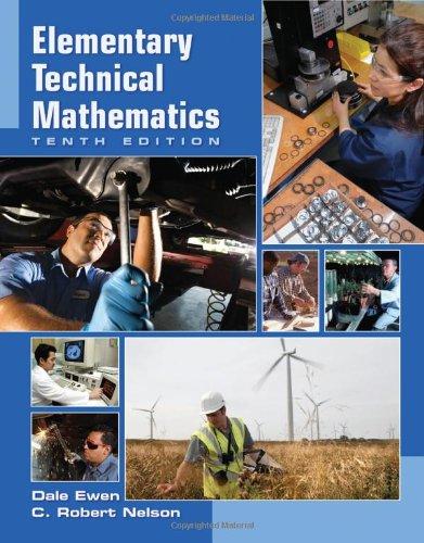 Elementary Technical Mathematics, 10th Edition