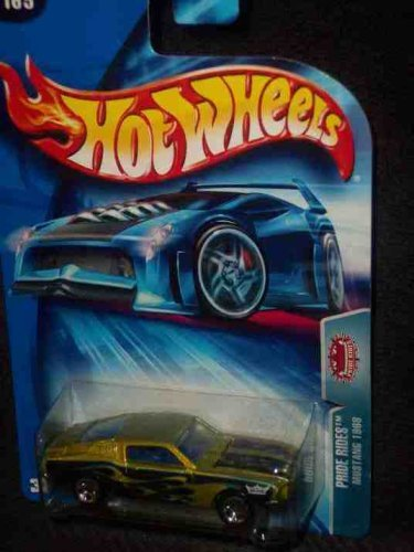 Pride Rides Series Ford Mustang Fastback 1968 Green Blue Flames in Tampo 2004 165 Mattel