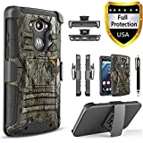 Droid Turbo Case, Circlemalls Dual Layers [Combo Holster] And Built-In Kickstand Bundled With Dual Layers Protection Hybrid Shockproof Phone Case And Stylus Pen For Motorola Droid Turbo XT1254-Camo
