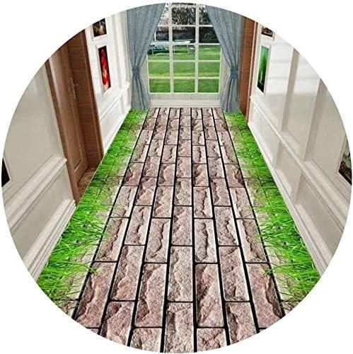 YANAN-廊下ランナー パスのデザインカーペットランナー非スリップマット用ホールや階段ランナーラグのために廊下エリアラグソフトスキンフレンドリー ロングカーペット (Size : 0.8×6m)