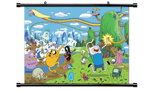 Adventure Time TV Show Cartoon Network Fabric Wall Scroll Poster (32