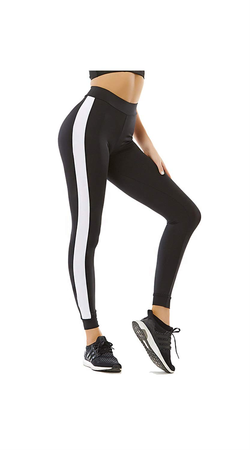 SCRT Yoga Pants Sweat Absorption & Quick Drying & Breathable High Waist Hip Tight Running Pants (Size   L)