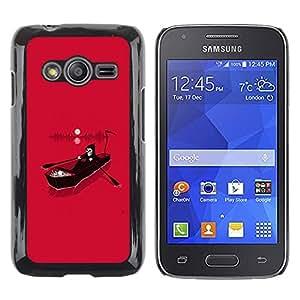 Shell-Star Arte & diseño plástico duro Fundas Cover Cubre Hard Case Cover para Samsung Galaxy Ace4 / Galaxy Ace 4 LTE / SM-G313F ( Pink Death Grim Reaper River Hell )