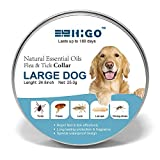 Dog Flea Treatment Collar - Higo Flea and Tick Collar for Dogs, Tick Collar for Flea Treatment, Prevention, Control One Size Fits All 6 Month Protection